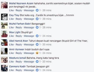 Peserta Rancangan Clever Girl Malaysia 2017 Tak Kenal Tokoh Pemimpin Negeri Kelahirannya