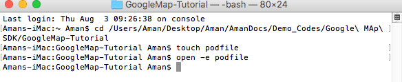 Opening podfile so taht we can write all the pods our application required to indatll