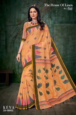 Aura the house of linen keva Saree