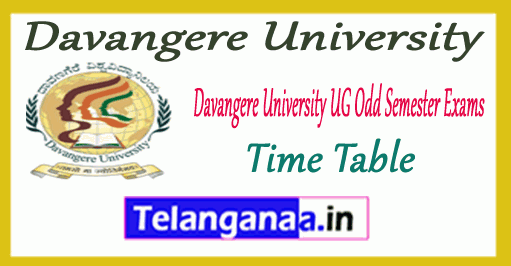 Davangere University 1st 3rd 5th Time Table