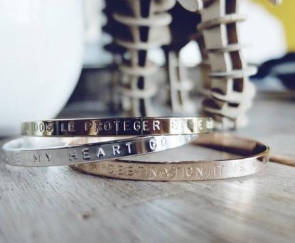 Bracelet à messages en plaqué or, plaqué argent ou plaqué or rose - Mya Bay fbde38e7210f