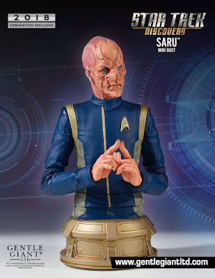San Diego Comic-Con 2018 Exclusive Star Trek: Discovery Lt. Saru Mini Bust by Gentle Giant