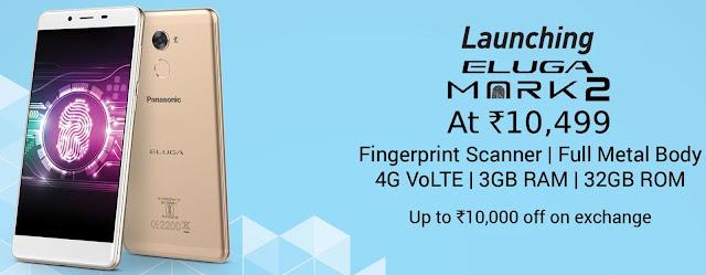 Panasonic Eluga Mark 2 | Fingerprint Scanner | 4G VoLTE | 3GB RAM + 32GB ROM