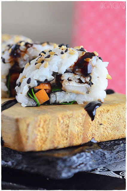Teriyaki sushi roll