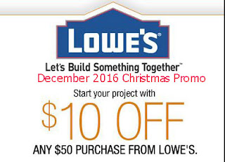 free Lowes Home Improvement coupons december 2016