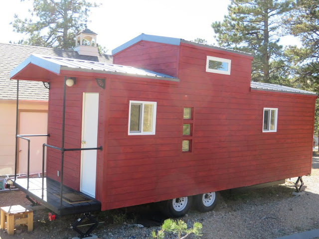 Tiny Home Designs: TINY HOUSE TOWN: Caboose Tiny House (240 Sq Ft