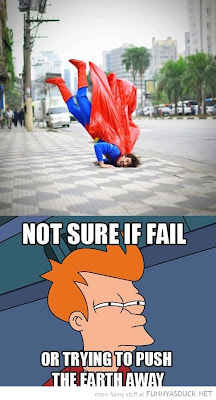 Fry confused about Superman, Futurama.