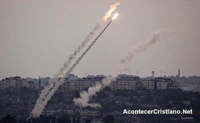 Hamás disparar cohetes contra Israel