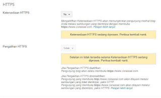 Fitur HTTPS Custom Domain Blogger