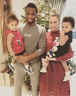 Mikel obi, Olga and their twins