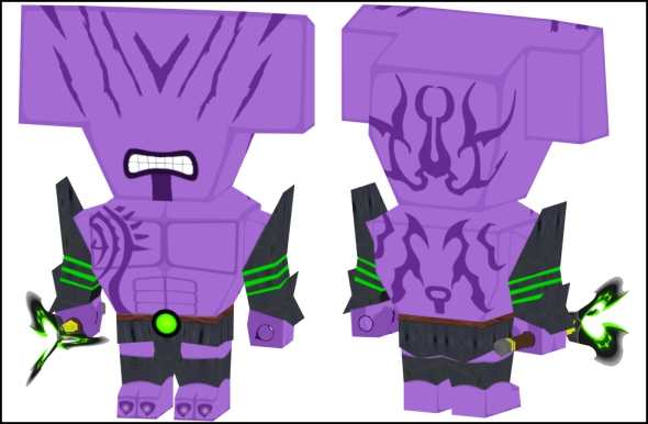 completed chibi paper model of dota 2 faceless void