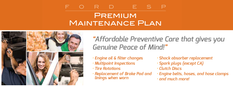 Free Premium Maintenance Plan - Ford 100 Hour Sale