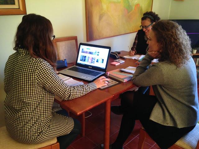 bloggers reunidas com a coach da psicologia positiva, Liliana Patrício