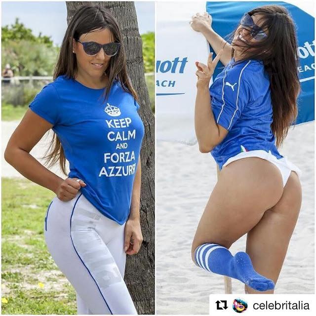Την στήριξή της στην εθνική Ιταλίας δηλώνει με sexy φωτογραφίες η Claudia Romani