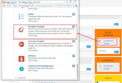 Cara Membuat dan Memasang Widged Google+ di Blog Terbaru