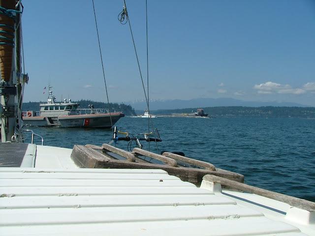 navy blockade off Hood canal for submarine
