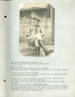 A page bearing a photograph of Lt. Colonel Frederick A. Tucker and a block of typed text describing his lack of suitability to his post.