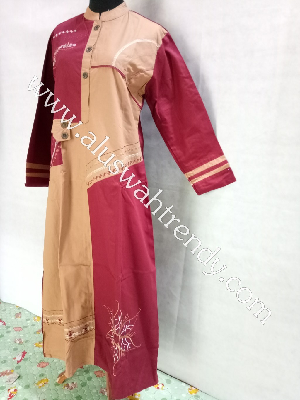 Gamis Muslimah 061 Bahan Katun