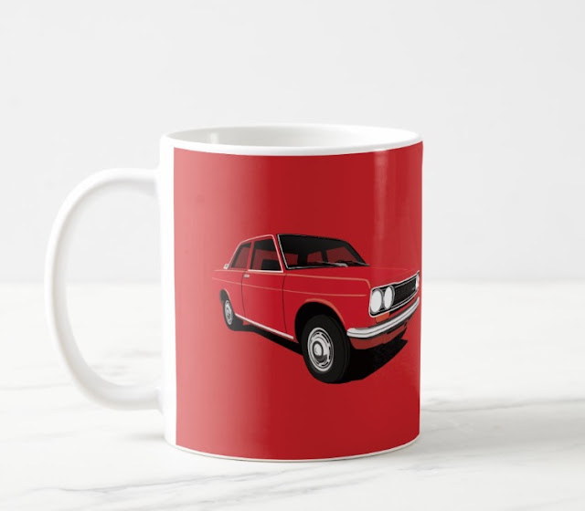 Red Datsun Bluebird 1600 510 coffee mug