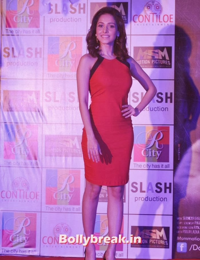 nushrat bharucha hot photo, Nushrat Bharucha Hot in Red Dress for Darr @ the Mall Movie Promotion