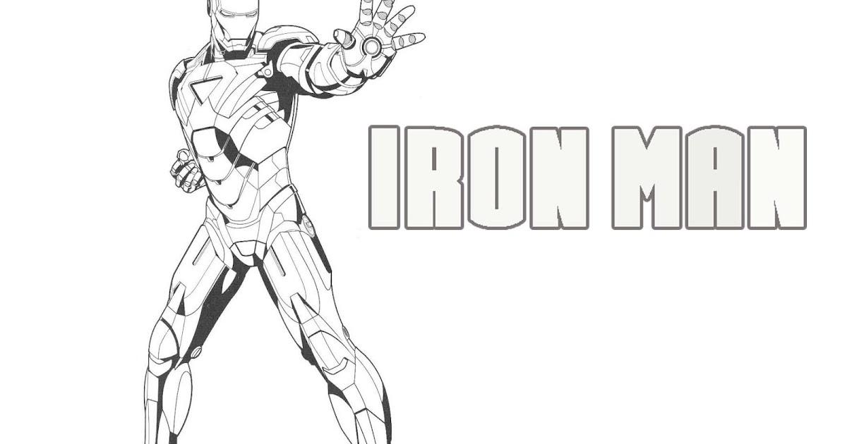 Gambar Mewarnai Gambar Kartun Iron Man  GAMBAR MEWARNAI