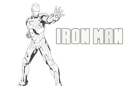 Gambar Kartun Mewarnai Iron Man
