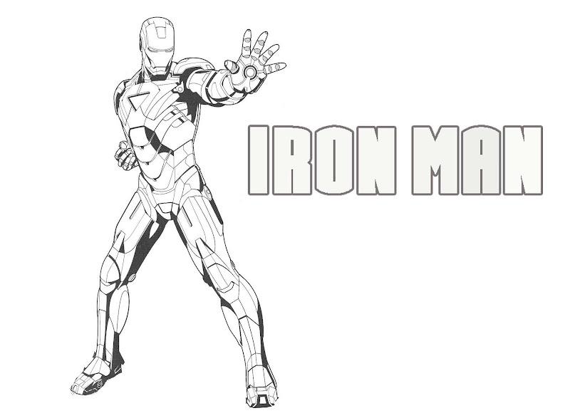 Gambar Mewarnai Iron Man Kumpulan Gambar Mewarnai