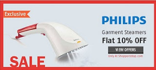 Exclusively @ Shopperstop – Launch Offer : Flat 10% Off on PHILIPS – Steam & Go – Handheld Garment Steamer starts Rs.4496 Only