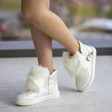 Cizme UGG de iarna ieftine cu blanita albe