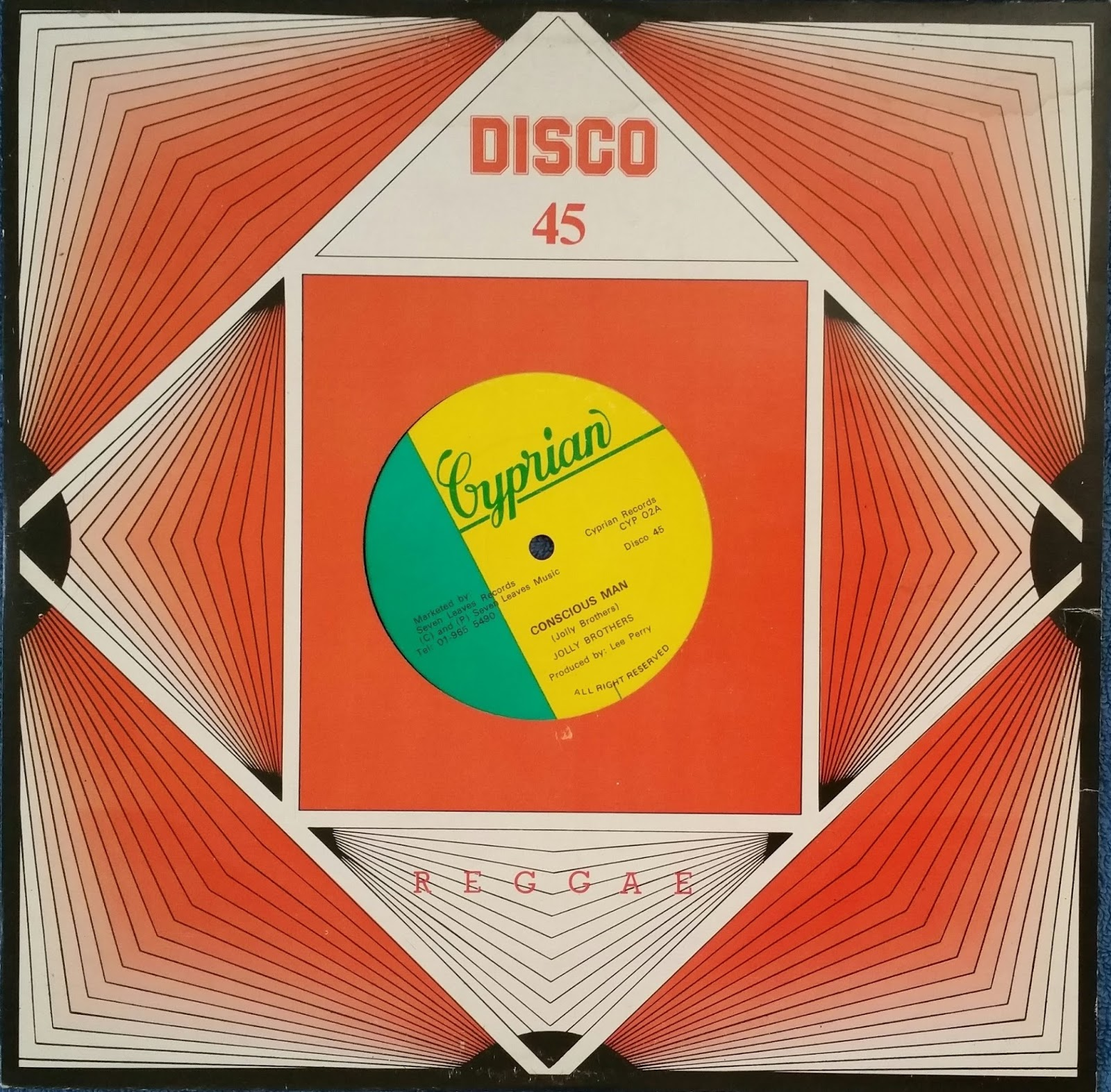 Groovemonzter Jolly Brothers Conscious Man 12 Inch Single