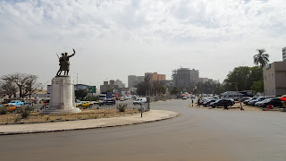 Roundabout with statue on top