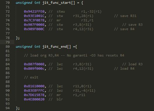 life of liveforit powerpc machine code generator experiment
