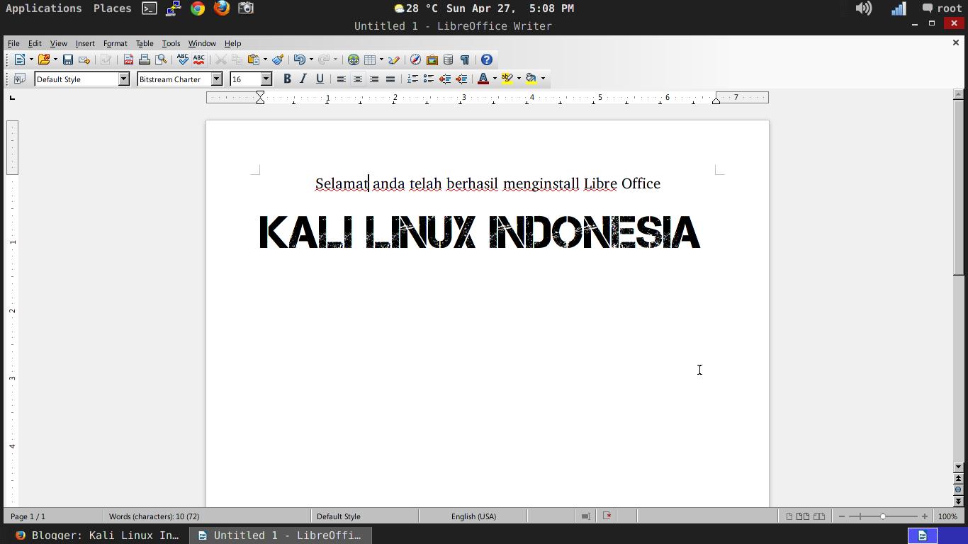 Cara Install Libre Office Kali Linux