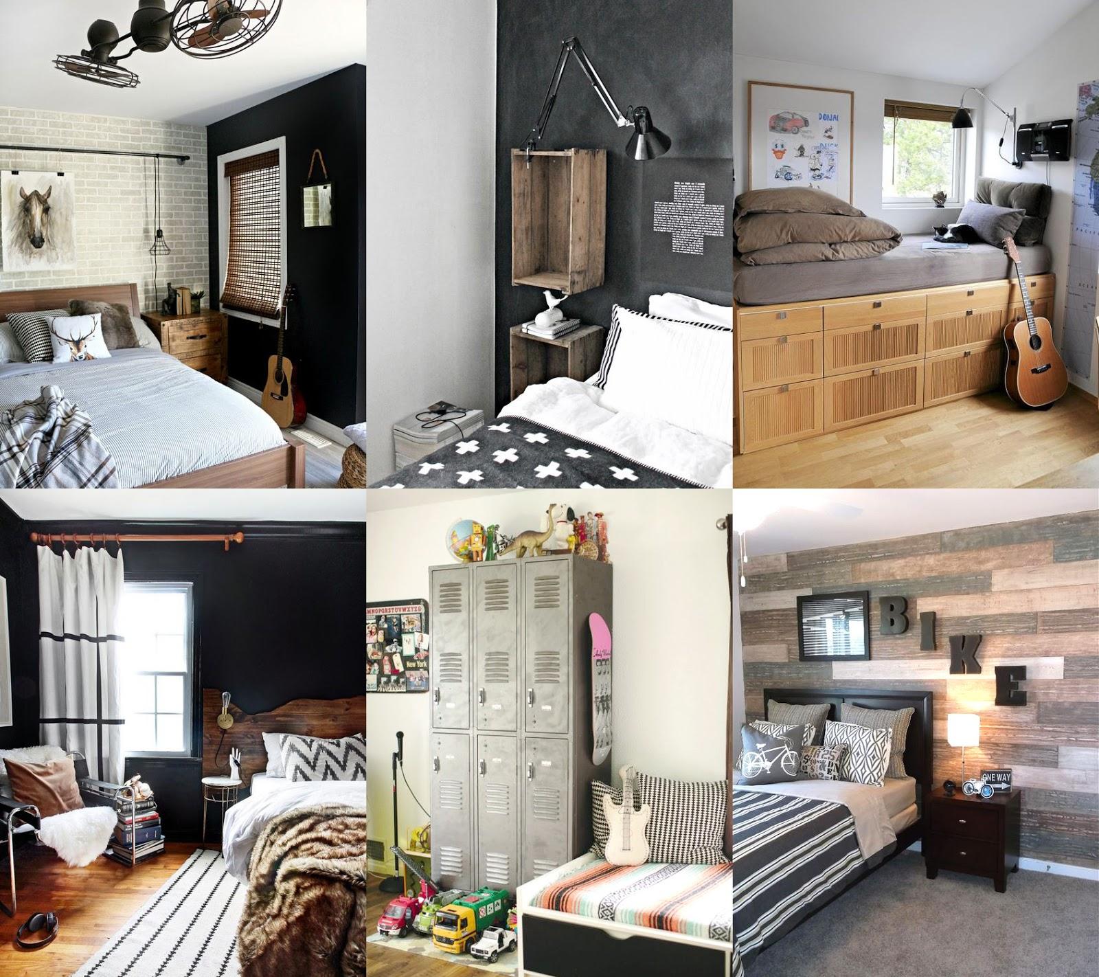 Idee per la camera di un ragazzo shabby chic interiors - Camera da letto stile industriale ...