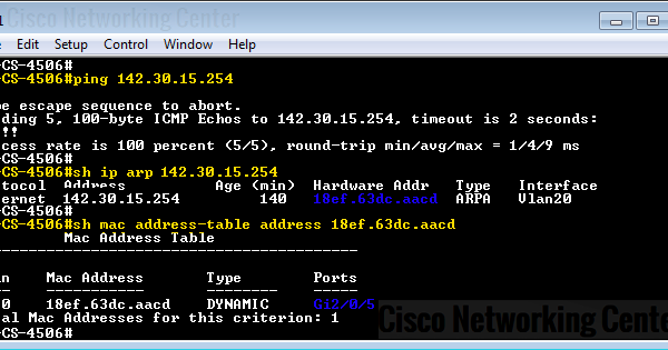 How to find specific mac address or IP address in a Cisco Switch