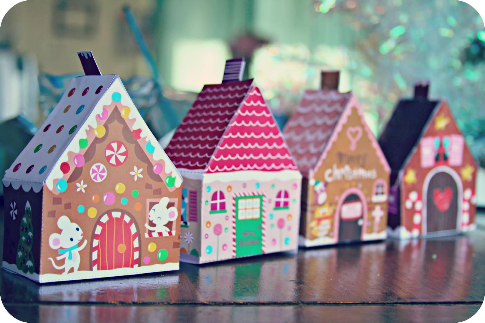 Whimsy Love Printable Gingerbread Houses