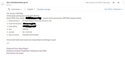 e-mail tanda pemesanan SBR