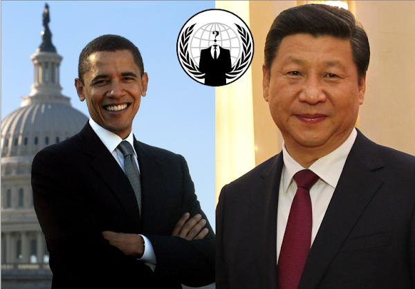 歐巴馬與習近平的網路對奕,圖片來自 Wikimedia,數位時代改作,CC by 2.0