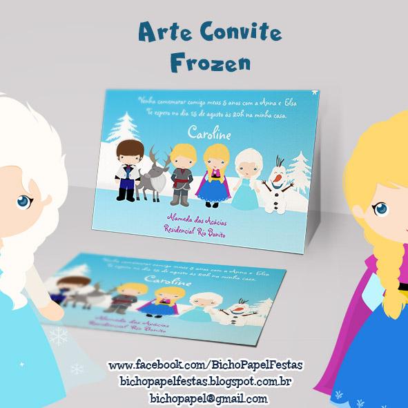 Arte Convite Frozen