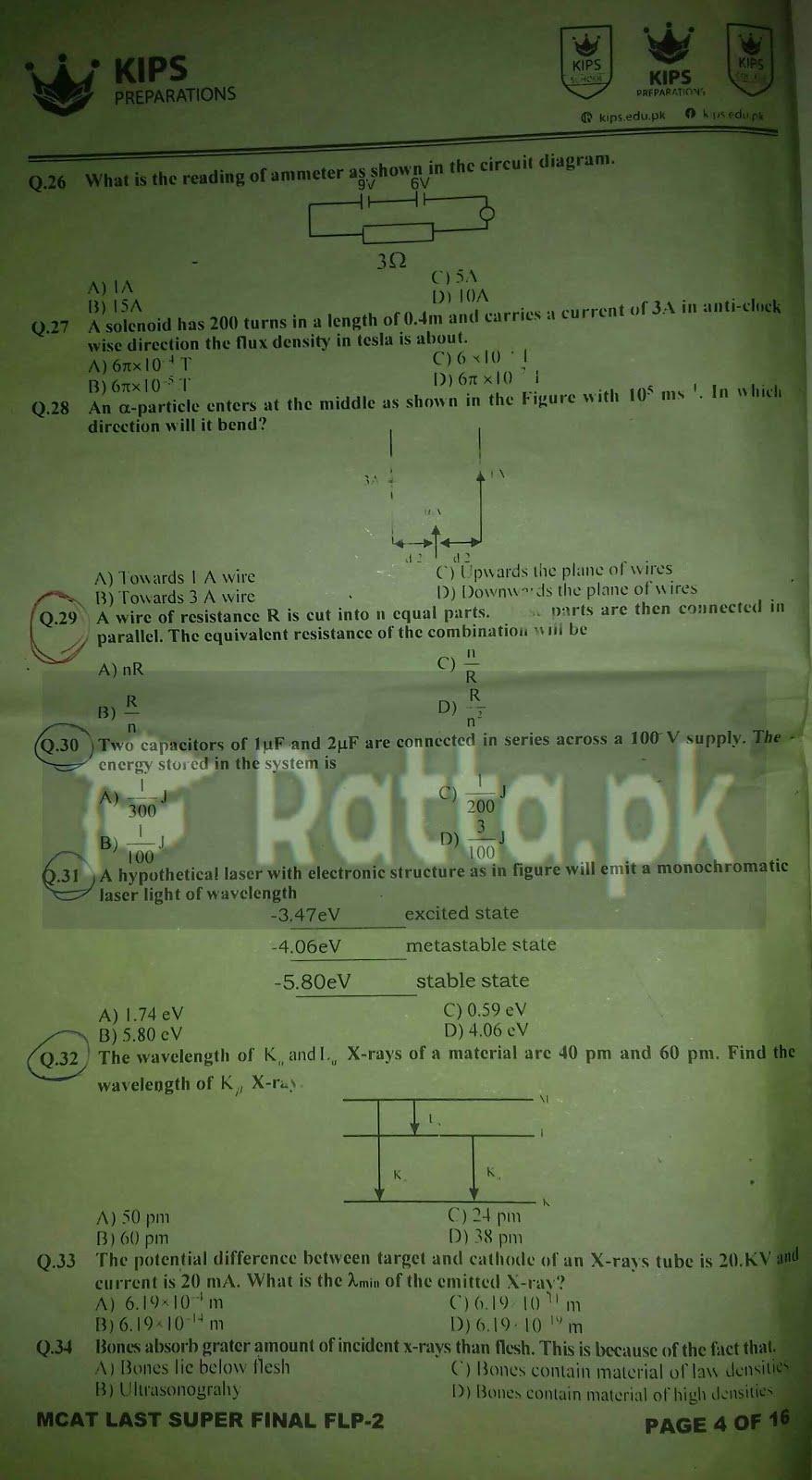 KIPS MCAT Physics Full Length Paper-2 4