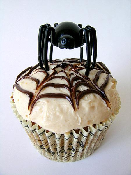 spider halloween cupcakes