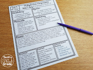 Guided Math lesson plans with a specific objective for each day.