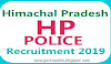 HP Police Recruitment 2019- Apply For 1063 Constable Posts