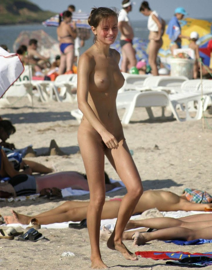 Nude beach only one naked