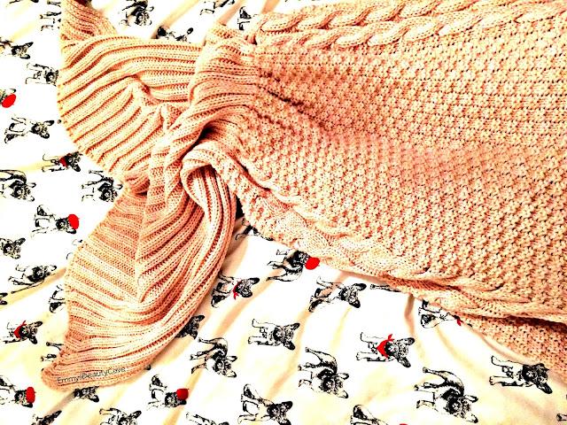 Pink Adult Mermaid Blanket