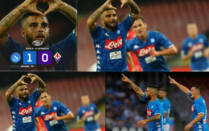Napoli-Fiorentina: risultato deciso da un gol di Lorenzo Insigne.