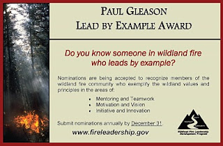 Paul Gleason Lead by Example award solicitation
