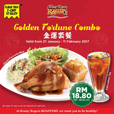 Kenny Rogers ROASTERS Malaysia Golden Fortune Combo
