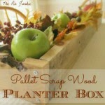 rustic wood planter DIY