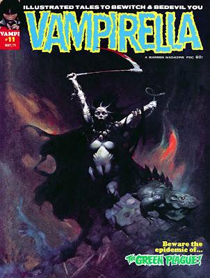 Vampirella v1 #11 warren magazine cover art by Frank Frazetta